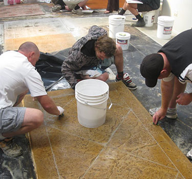 decorative concrete training - 3 day hands on concrete restoration