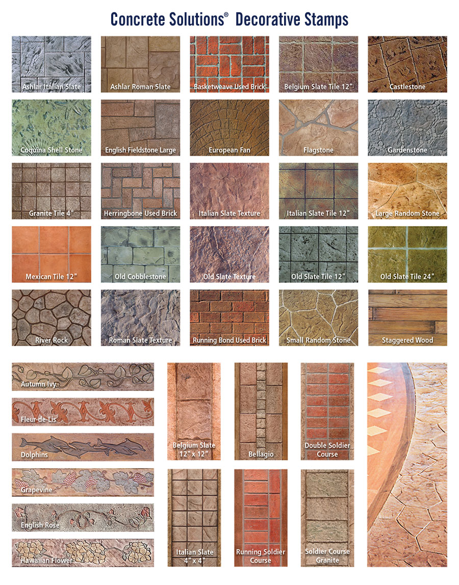 Stamped Concrete System Concrete Solutions Products